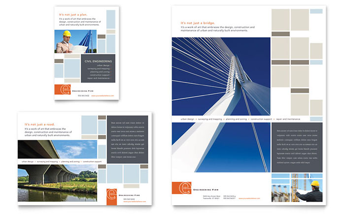 civil engineers flyer  u0026 ad template
