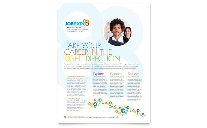 job expo  u0026 career fair flyer template