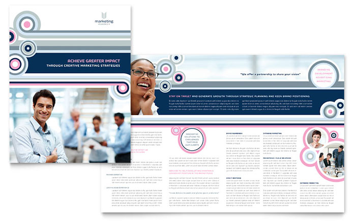 Marketing Agency Brochure Template - Word & Publisher