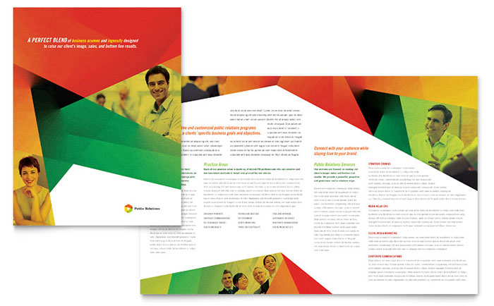Public Relations Company Brochure Template - Word & Publisher