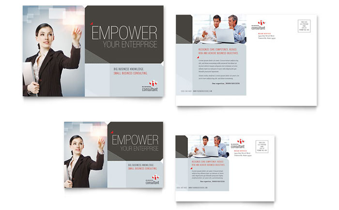 Corporate Business Postcard Template - Word & Publisher