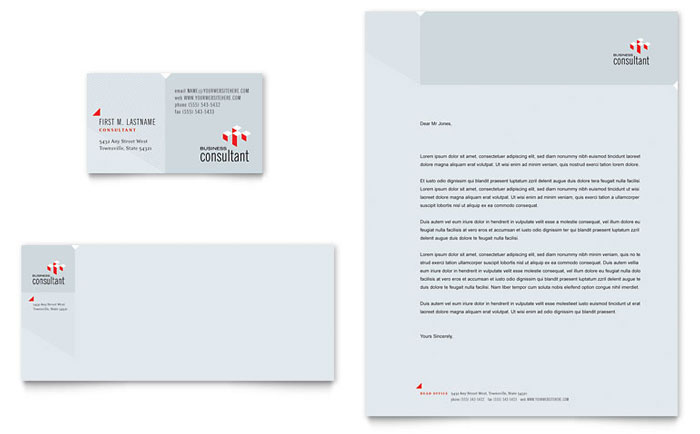 Corporate Business Business Card and Letterhead Template Word – Corporate Word Templates