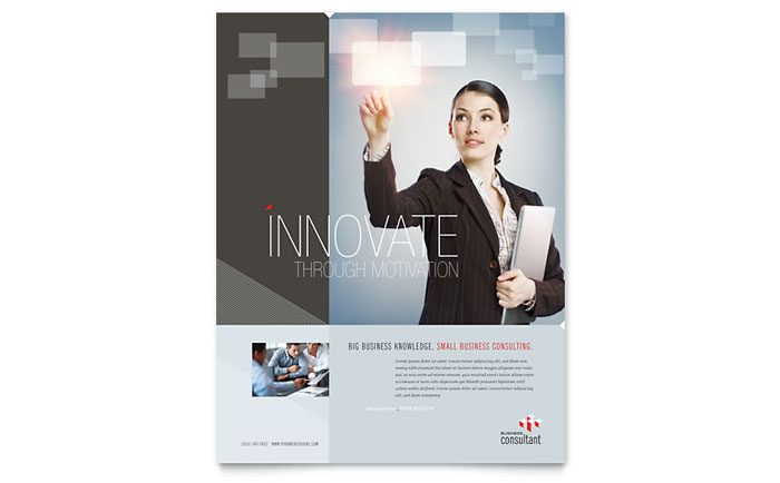 Corporate Business Flyer Template - Word & Publisher