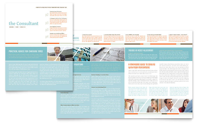 Management consulting newsletter template word publisher for 11x17 half fold brochure template