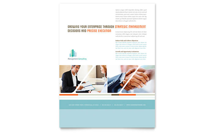 Management Consulting Flyer Template - Word & Publisher