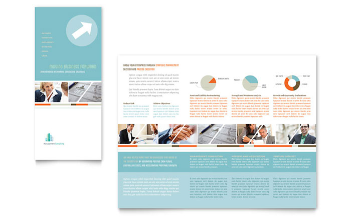 Management consulting tri fold brochure template word for Microsoft publisher brochure template
