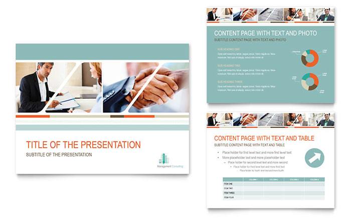 Management Consulting PowerPoint Presentation Template - PowerPoint