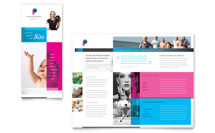 pamphlet brochure template - photography business brochure template word publisher