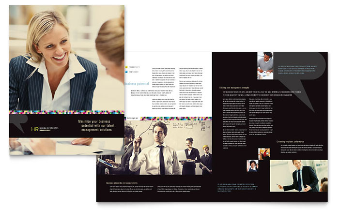 Human Resource Management Brochure Template - Word & Publisher