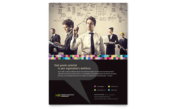 Human Resource Management Flyer Template - Word & Publisher