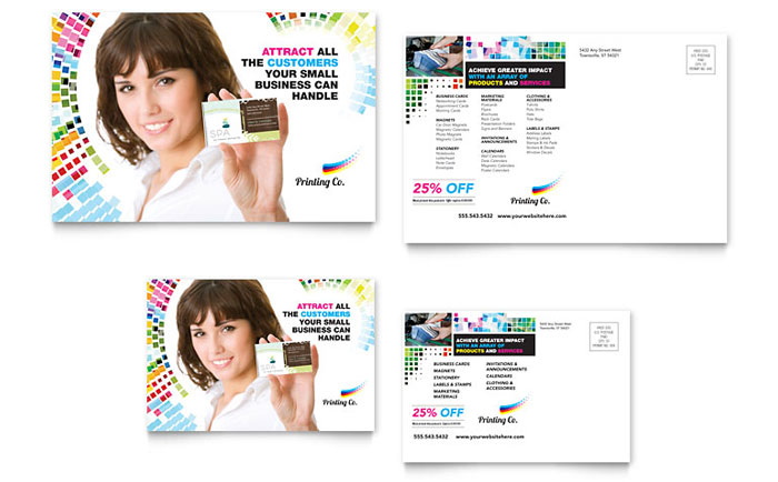 Printing Company Postcard Template Word Amp Publisher