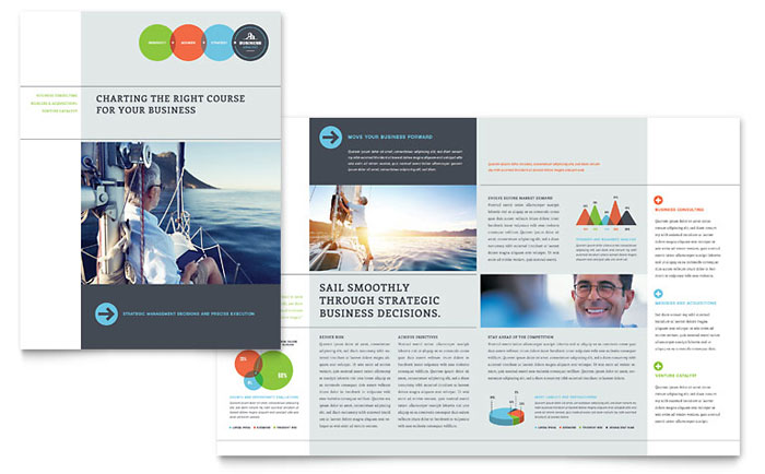 Business analyst brochure template word publisher for Publisher brochure templates