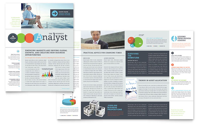 business analyst newsletter template word publisher