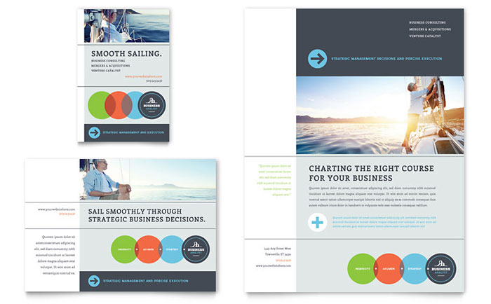 business analyst flyer  u0026 ad template