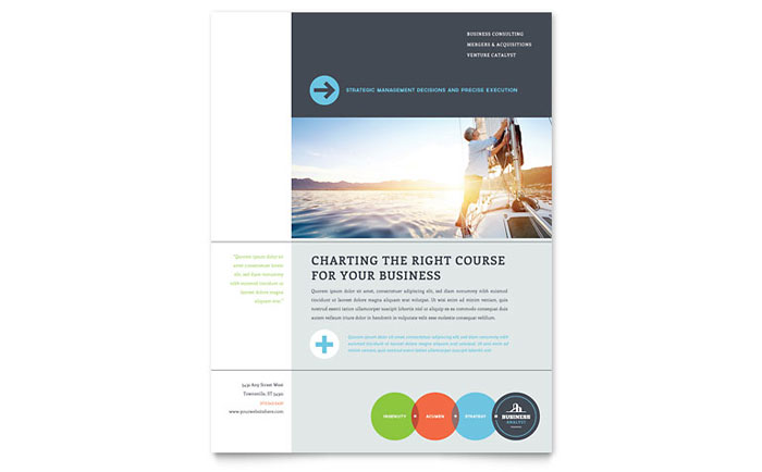 Business Analyst Flyer Template - Word & Publisher