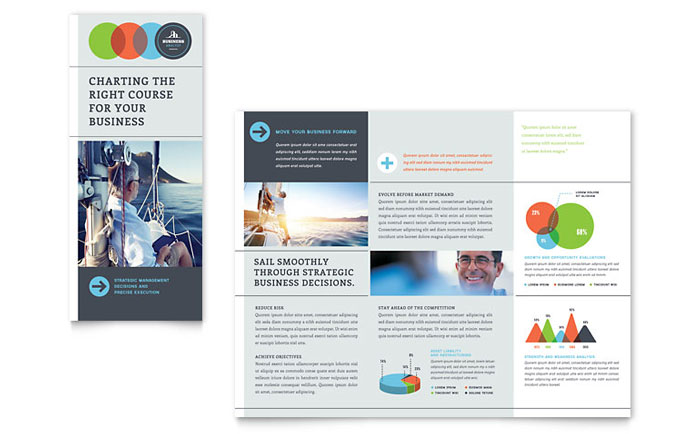 Business analyst tri fold brochure template word publisher for Word brochure template tri fold