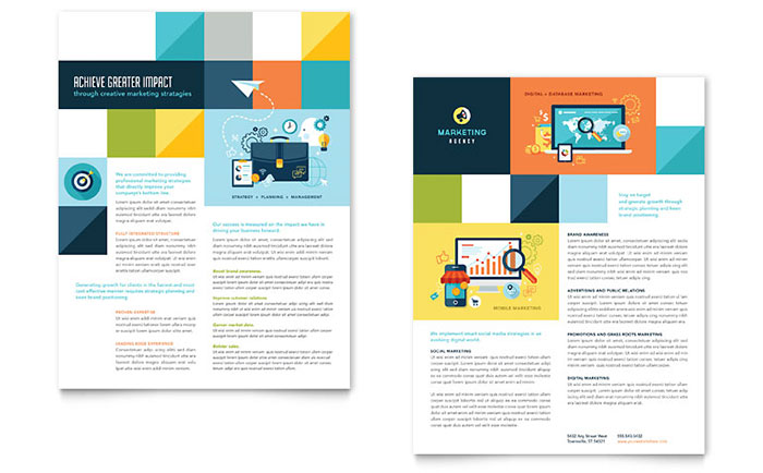 Advertising Company Datasheet Template - Word & Publisher