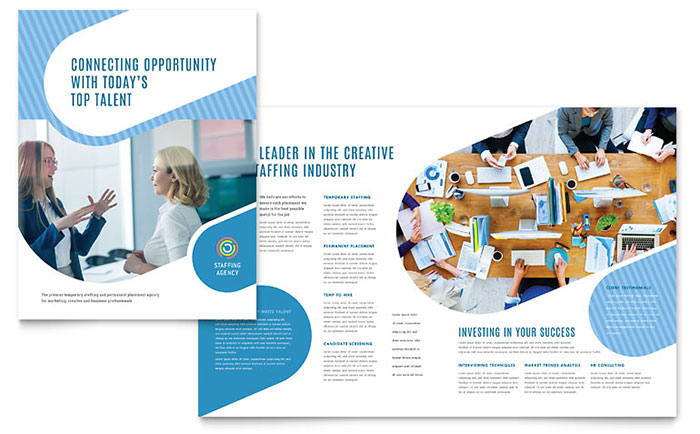 Employment Agency Brochure Template - Word & Publisher