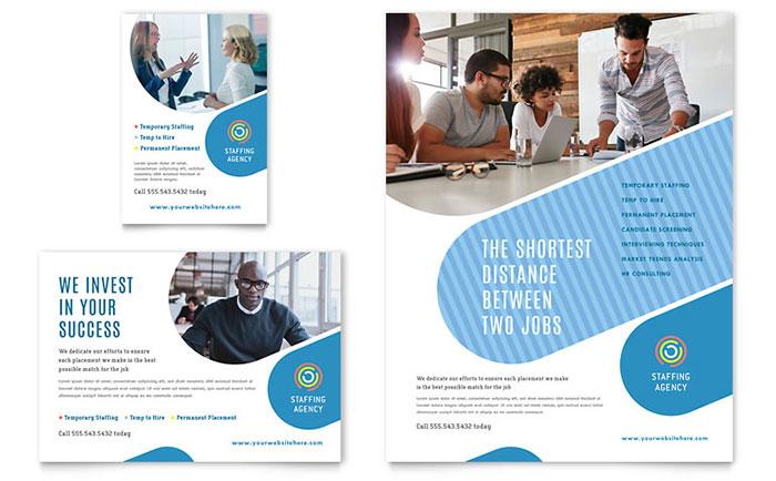 employment agency flyer  u0026 ad template
