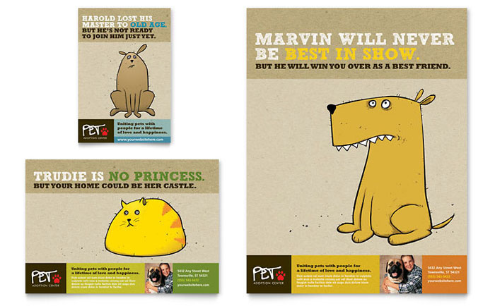 Animal Shelter & Pet Adoption Flyer & Ad Template - Word & Publisher
