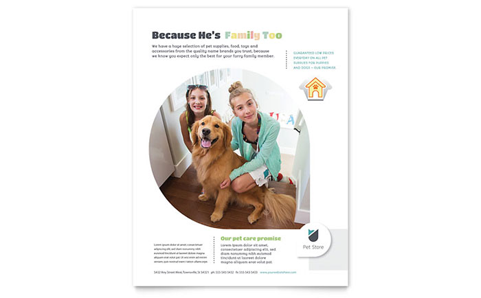 Pet Store Flyer Template - Word & Publisher
