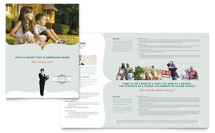 Realtor & Realty Agency Brochure Template - Word & Publisher
