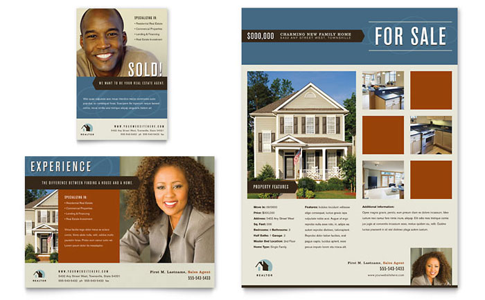Real Estate Agent - Ad Templates - Word & Publisher