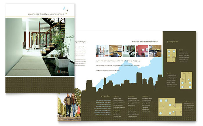 Urban real estate brochure template word publisher for Property brochure template