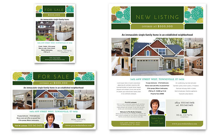 Real Estate Flyer Template - Word & Publisher