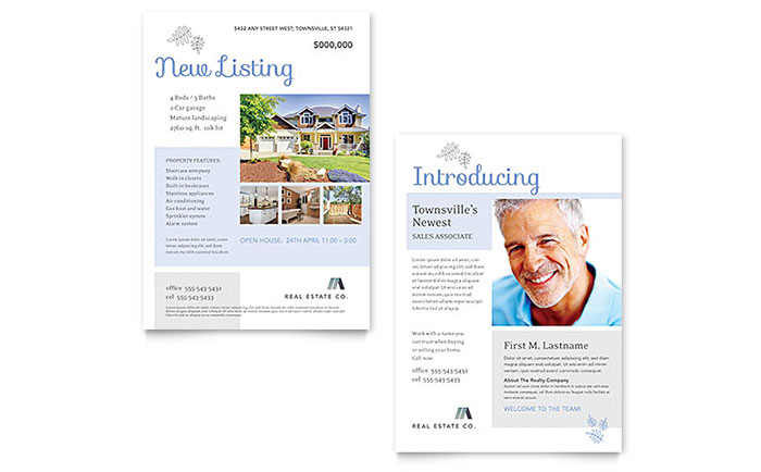 Real Estate Listing Announcement Template - Word & Publisher