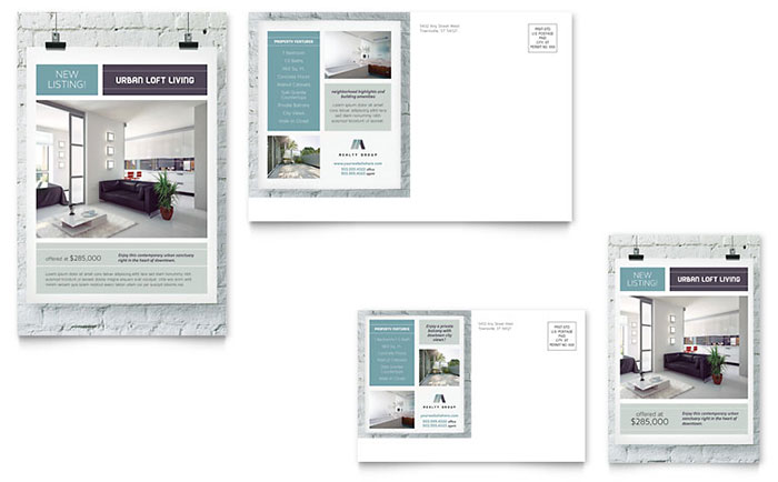 Urban Loft Postcard Template - Word & Publisher