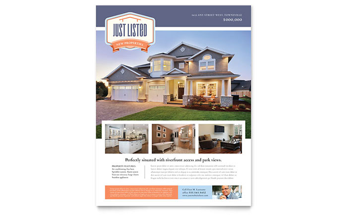 New Property Flyer Template Word Amp Publisher