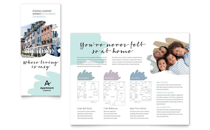 Apartment Brochure Template - Word & Publisher