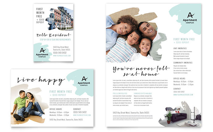 Apartment Flyer & Ad Template - Word & Publisher