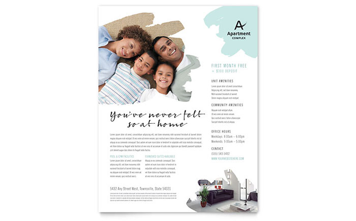 Apartment Flyer Template - Word & Publisher