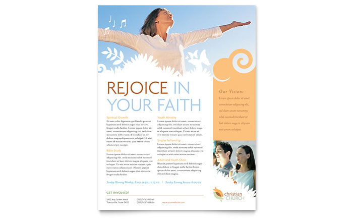 Christian church flyer template word publisher for Church brochure templates free