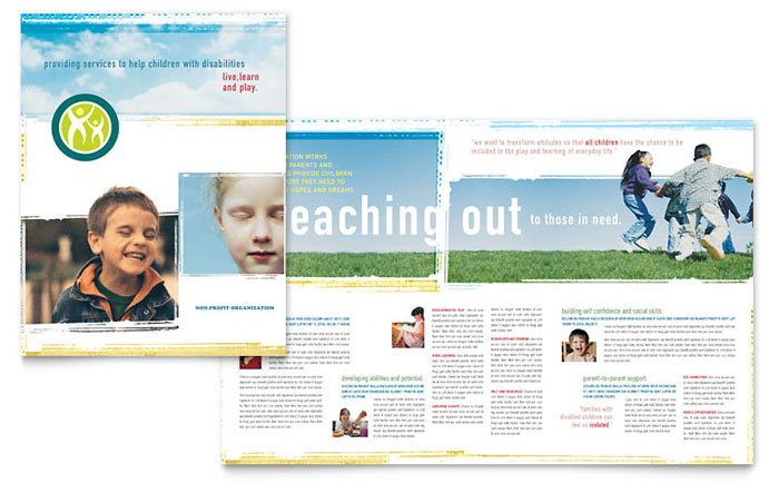 Special education brochure template word publisher for Education brochure templates