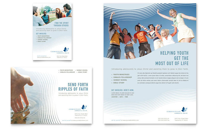 Christian Ministry Flyer & Ad Template - Word & Publisher