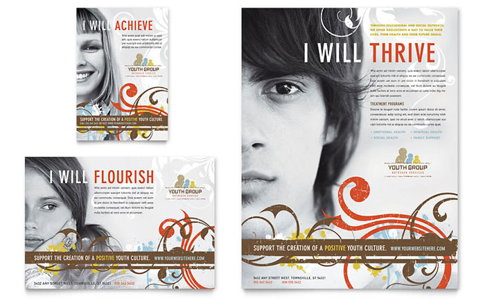 Church Youth Group Flyer & Ad - Word Template & Publisher Template