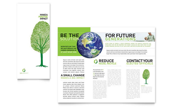 environment brochure template - environmental non profit tri fold brochure template word