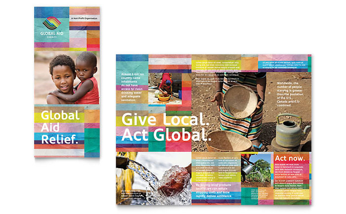 Humanitarian Aid Organization Brochure Template - Word & Publisher