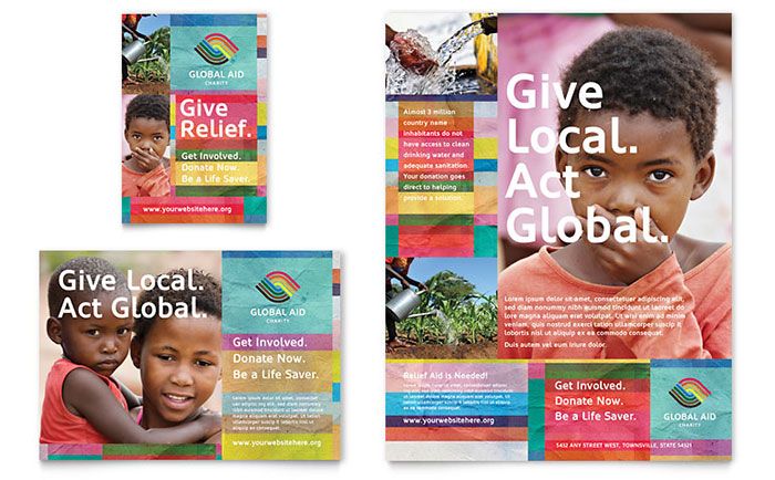 Humanitarian Aid Organization Flyer & Ad Template - Word & Publisher