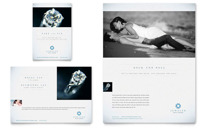 jeweler  u0026 jewelry store flyer  u0026 ad template