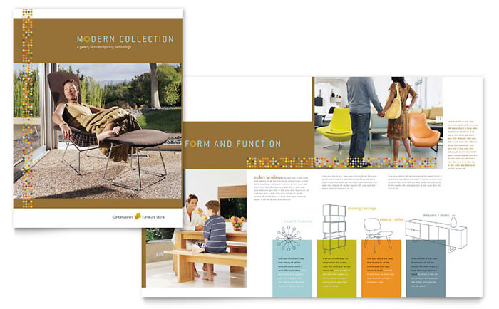 Furniture store brochure template word publisher for Microsoft works templates brochure
