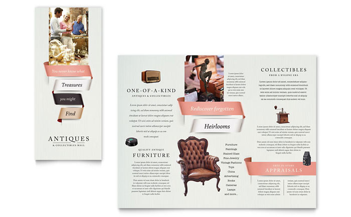 Antique Mall Brochure Template - Word & Publisher