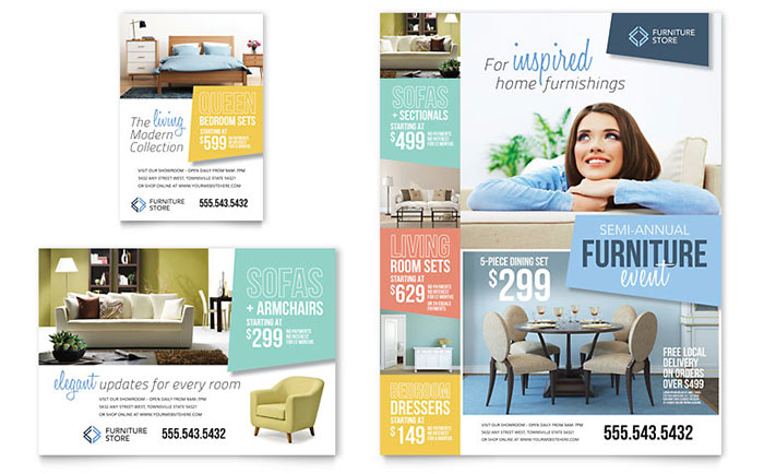 Home Furnishings Flyer & Ad Template - Word & Publisher