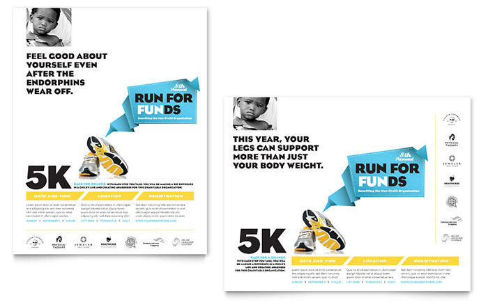 Charity Run Poster Template - Word & Publisher