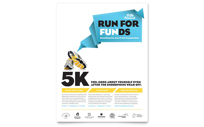 Charity Run Flyer Template - Word & Publisher