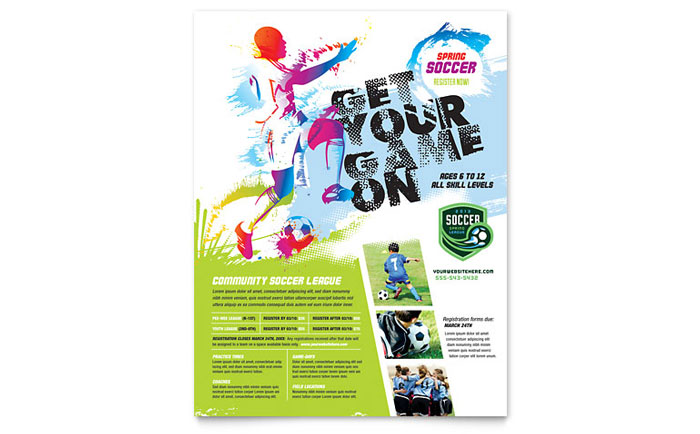Youth Soccer Flyer Template - Word & Publisher