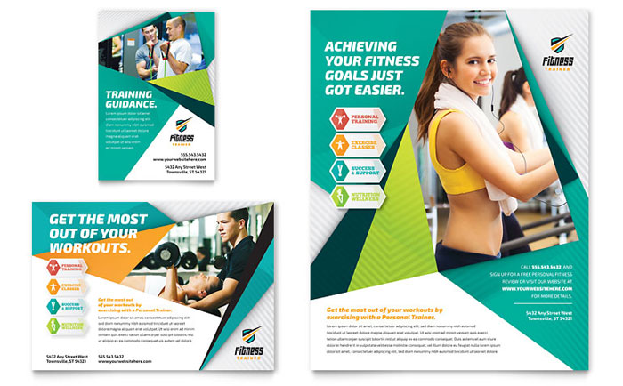 Fitness Trainer Flyer & Ad Template - Word & Publisher